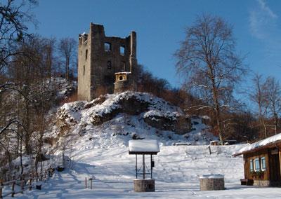 Winterbild Ruine